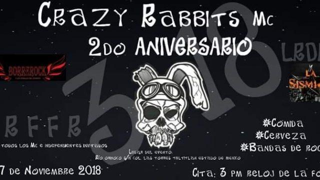 2° Aniversario Crazy Rabbits
