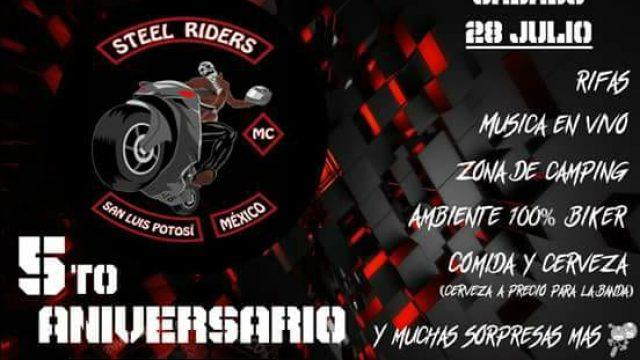 5 to. Aniversario STEEL RIDERS MC