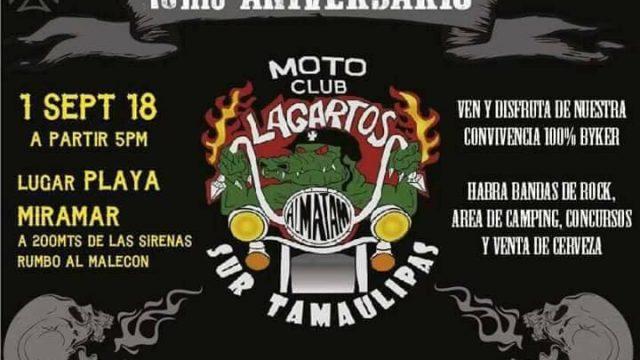 Aniversario Motoclub Lagartos Sur de Tamaulipas