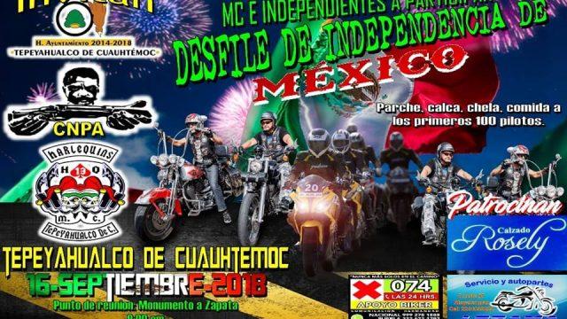 Desfile De Independencia En Tepeyahualco De Cuauthemoc