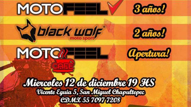 Fiesta Aniversario N°3 Motofeel, N°2 BlackWolf, Apertura Cafe !