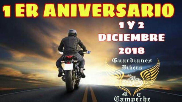 Primer Aniversario Guardianes Bikers Campeche