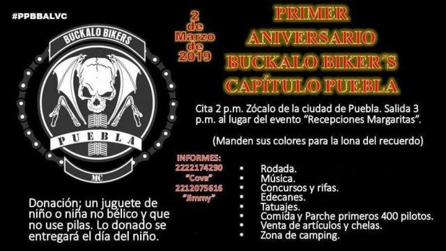 Primer aniversario Buckalo Puebla