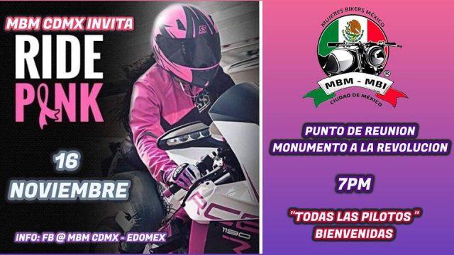 Rodada Rosa Mujeres Bikers Mexico CDMX – Edomex