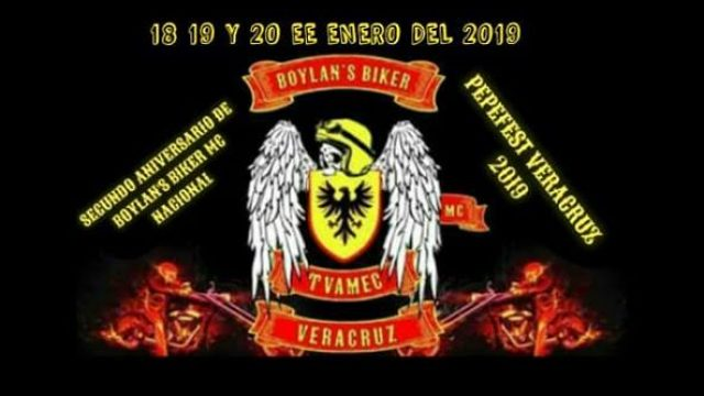 SEGUNDO ANIVERSARIO DE BOYLANS BIKER MC NACIONAL