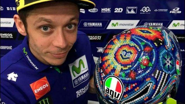 El casco Huichol de Valentino Rossi