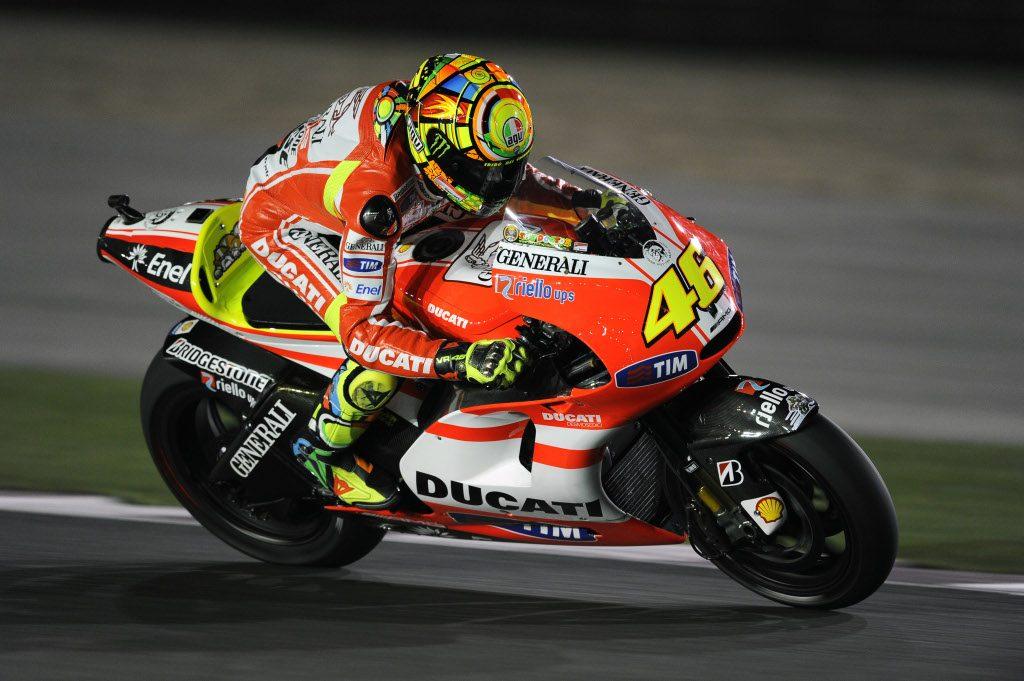 Rossi en Ducati